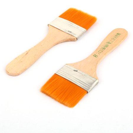 Painter Wood Handle Nylon Bristles Head Oil Painting Brushes Tricolor 10 Pcs - image 1 of 2