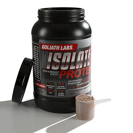 Goliath Labs Isoler Muscle Protein - 100% de protéines de lactosérum à froid Filtré - Rapid acides aminés Livraison - Chocolat - 5 Baignoire Pound, 68 Portions