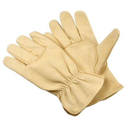 Premium Full Grain Leather - G & F 2002XL-3 Full Grain Pigskin Leather Work Gloves, Drivers Gloves, Premium Washable leather, Size XLarge. (Value Pack: 3 pairs)