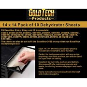 """GOLD TECH Food Dehydrator Sheets - Flexible Reusable and Resizable Tray Liners Non-Stick Baking Mat - Food Dryer Sheet - Set of 10 Premium 14"""" X 14"""" Excalibur 2400"""