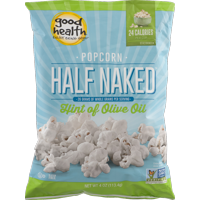 Good Health Half Naked Popcorn with Hint of Olive Oil 4 oz. Bag (6 Bags)