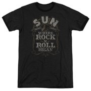 Sun Records Where Rock Began Mens Adult Heather Ringer Shirt