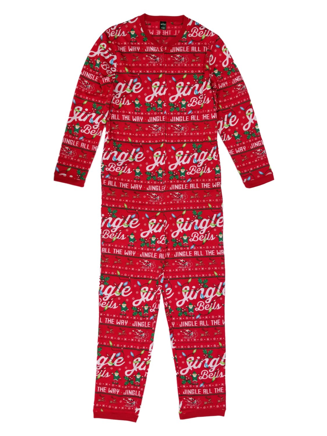 Mens Christmas Pajamas.Mens Jingle Bells Christmas Holiday Microfleece Union Suit Pajamas