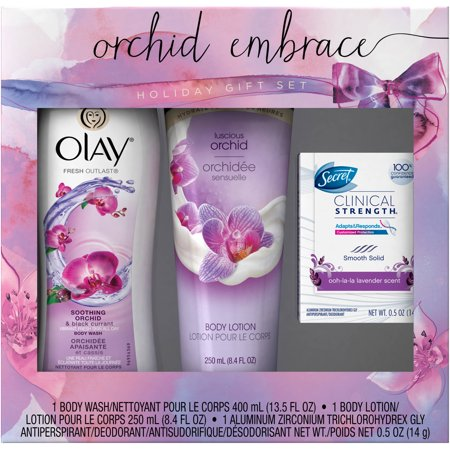 Olay Orchid Embrace Holiday Gift Set 3 Pc Walmart