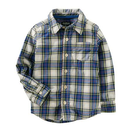OshKosh B'gosh Big Boys' Poplin Button-Front Shirt, 8