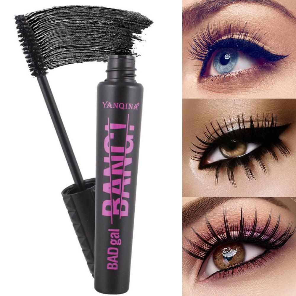 Tuscom 4D Fiber Mascara Long Black Lash Eyelash Extension Waterproof Eye Makeup Tool
