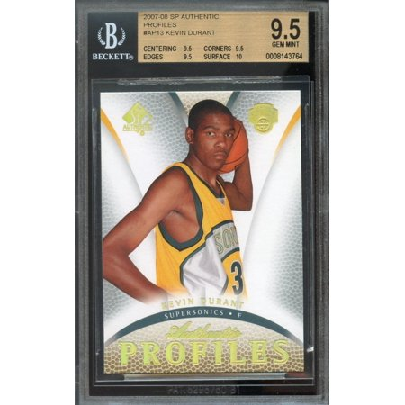 2007-08 sp authentic profiles #ap13 KEVIN DURANT rookie BGS 9.5 9.5 9.5 10 for $<!---->