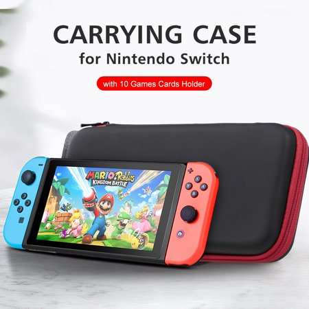 Carrying Case for Nintendo Switch with 10 Games Cards Holder Hard Shell Travel Carry Case Handbag for Nintendo Switch Console Joy-Con Controller Accessories