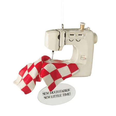 CBK LLC Sewing Machine Ornament, Add something cheery to your décor this season with this fun home accent. By Midwest