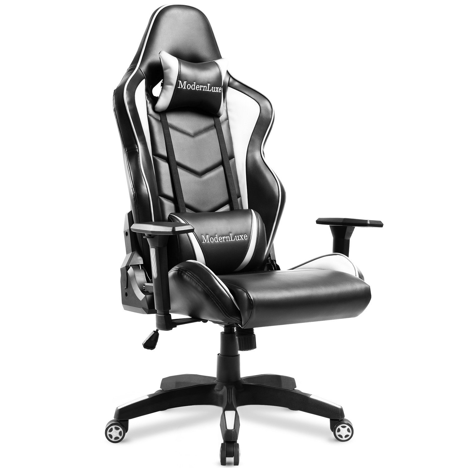 modernluxe gaming chair high back office chair lumbar support ergonomic with headrest. Black Bedroom Furniture Sets. Home Design Ideas