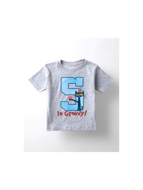Pete The Cat 5Th Birthday Boys - Youth Short Sleeve Tee