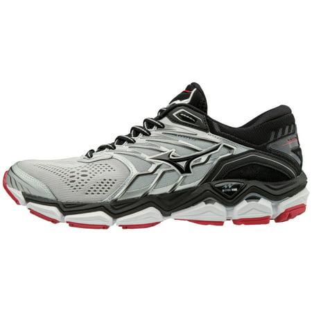 mizuno men's wave horizon 2 running shoe, silver/black, 7 d