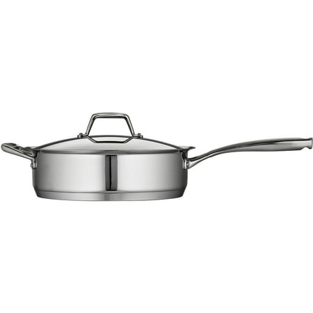 Tramontina Gourmet Prima 5-Quart Covered Deep Saute Pan with Tri-Ply Base Covered Oval Saute Pan