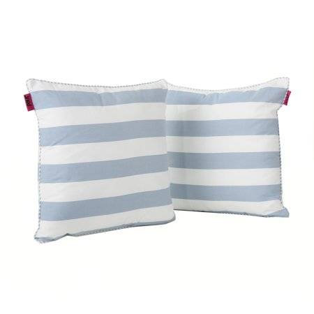 Miriam fabric throw pillow set of 2 light blue and white - Fabric for throw pillows ...