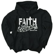 Faith Courage T Shirt Jesus Christ Love Bible God Savior Gift Hoodie Sweatshirt