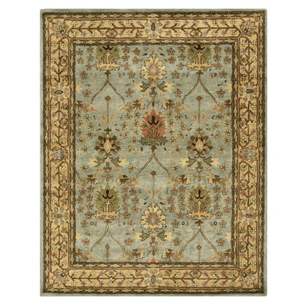 Hand-tufted Wool Blue Traditional Oriental Morris Rug ()