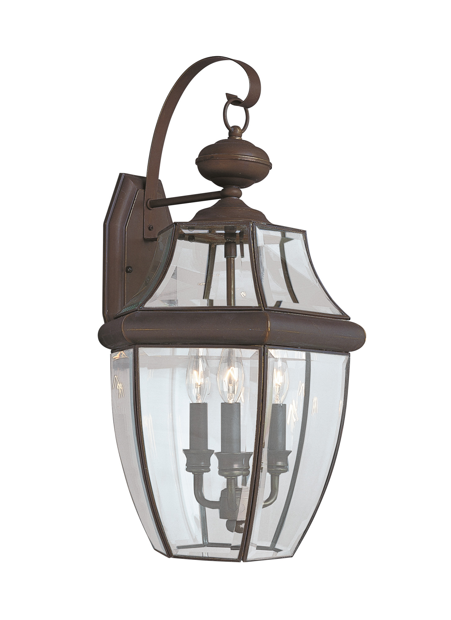 Sea Gull Lighting 8040 Lancaster 3 Light Outdoor Lantern Wall Sconce by Sea Gull Lighting