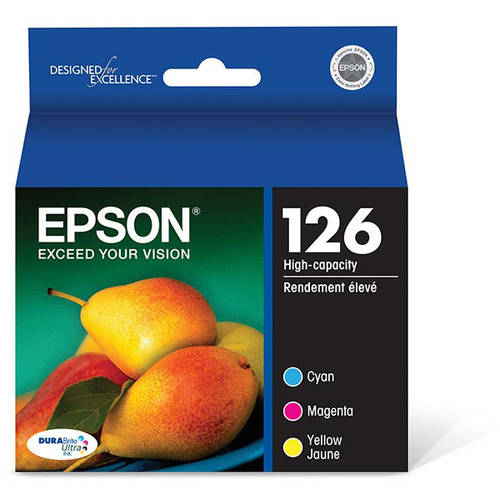 Epson DURABrite Ultra Ink Color Multipack 126 High-Capacity Ink Cartridges (T126520)