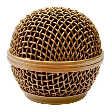 Seismic Audio Replacement Gold Steel Mesh Microphone Grill Head - Fits Shure SM58 and Similar Gold -