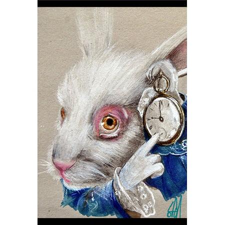 White Rabbit Time by Manuela Lai Alice in Wonderland Character Framed Art Print