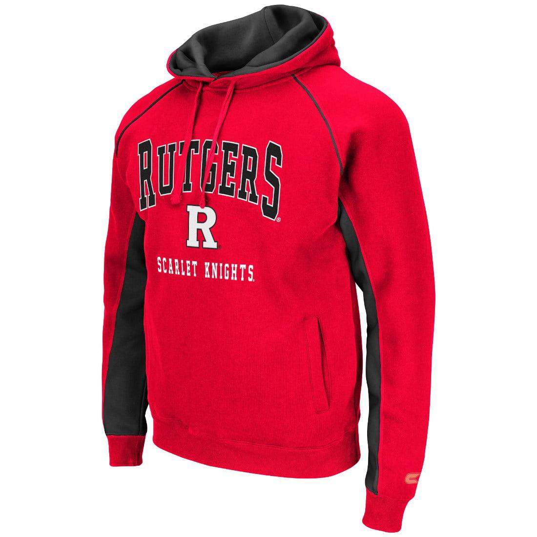 "Rutgers Scarlet Knights NCAA ""Crest"" Pullover Hooded Men's Sweatshirt"