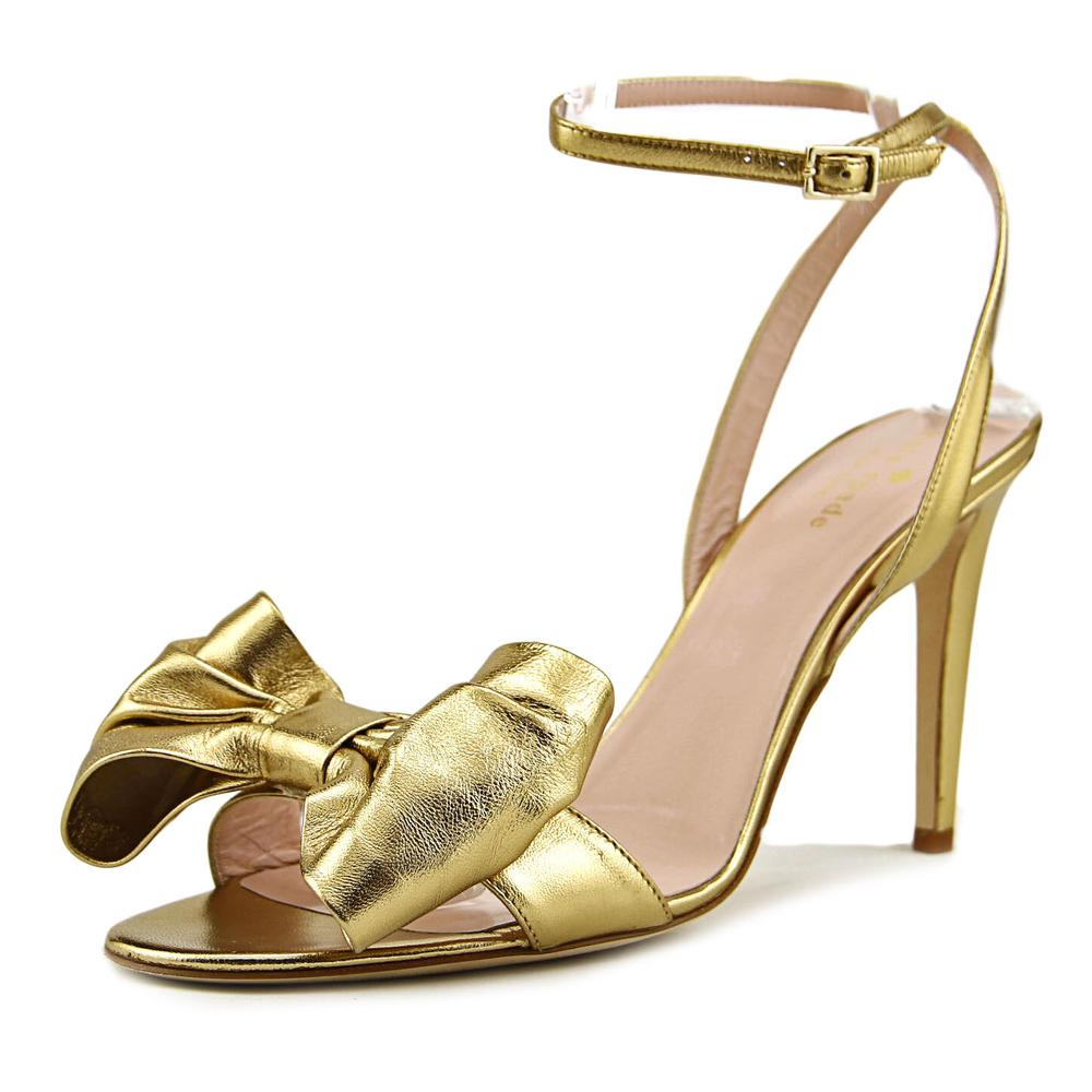 Kate Spade Idella Women Open Toe Leather Gold Sandals by kate spade