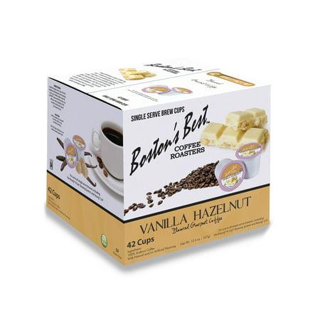 Boston's Best Vanilla Hazelnut Flavored Coffee, Single Serve Cups, 42