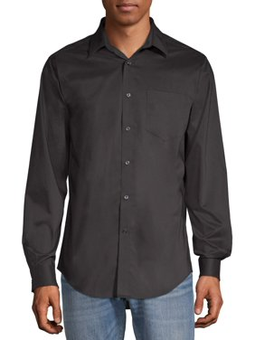 George Men's Long Sleeve Performance Dress Shirt, Up to 3XL