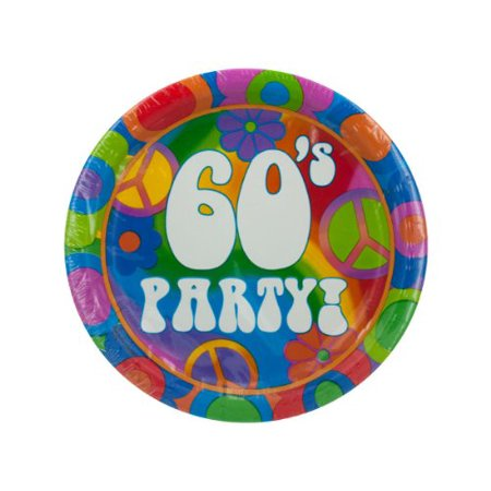 - 8 pack 60s theme plates