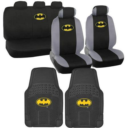 BDK Original Batman Car Seat Covers With Rubber Floor Mats Trimmable