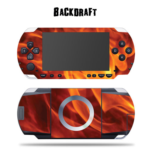 Mightyskins Protective Vinyl Skin Decal Cover Sticker for SONY PSP - Back Draft