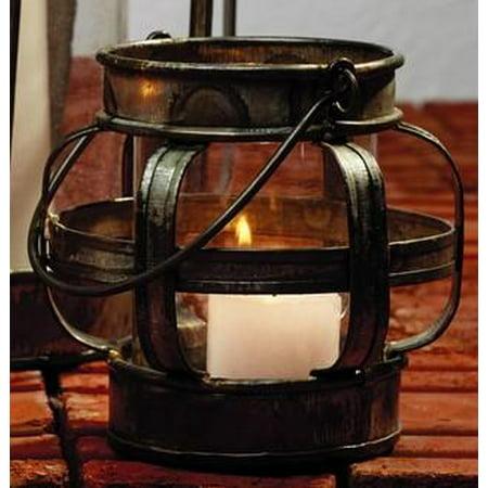 Cheap Metal Lanterns (Small Galvanized Metal & Glass Lantern Candle)