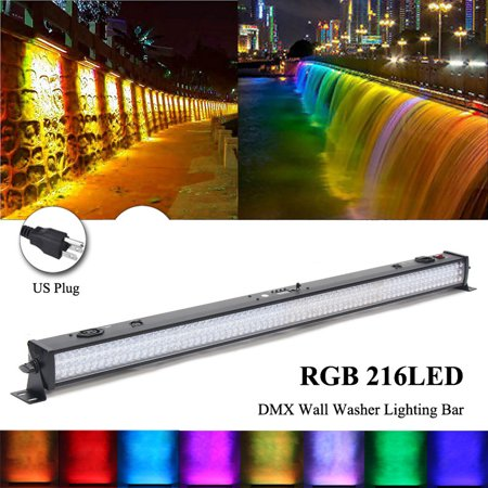 - RGB 216LED Didoes DMX Wall Washer Light Bar LED Stage Light Lamp DJ Show Party  Sound Active AUTO Master-Slave With Male And Female Power Jack