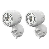Wireless Outdoor Motion Sensor Spotlight - Mr. Beams 2 Pack White