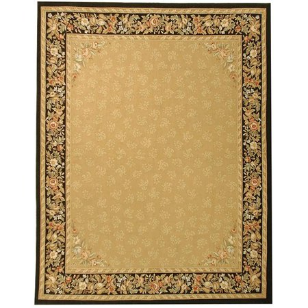 Due Process Stable Trading Aubusson Rennes Gold & Black Area Rug, 5 x 8 ft. - image 1 of 1