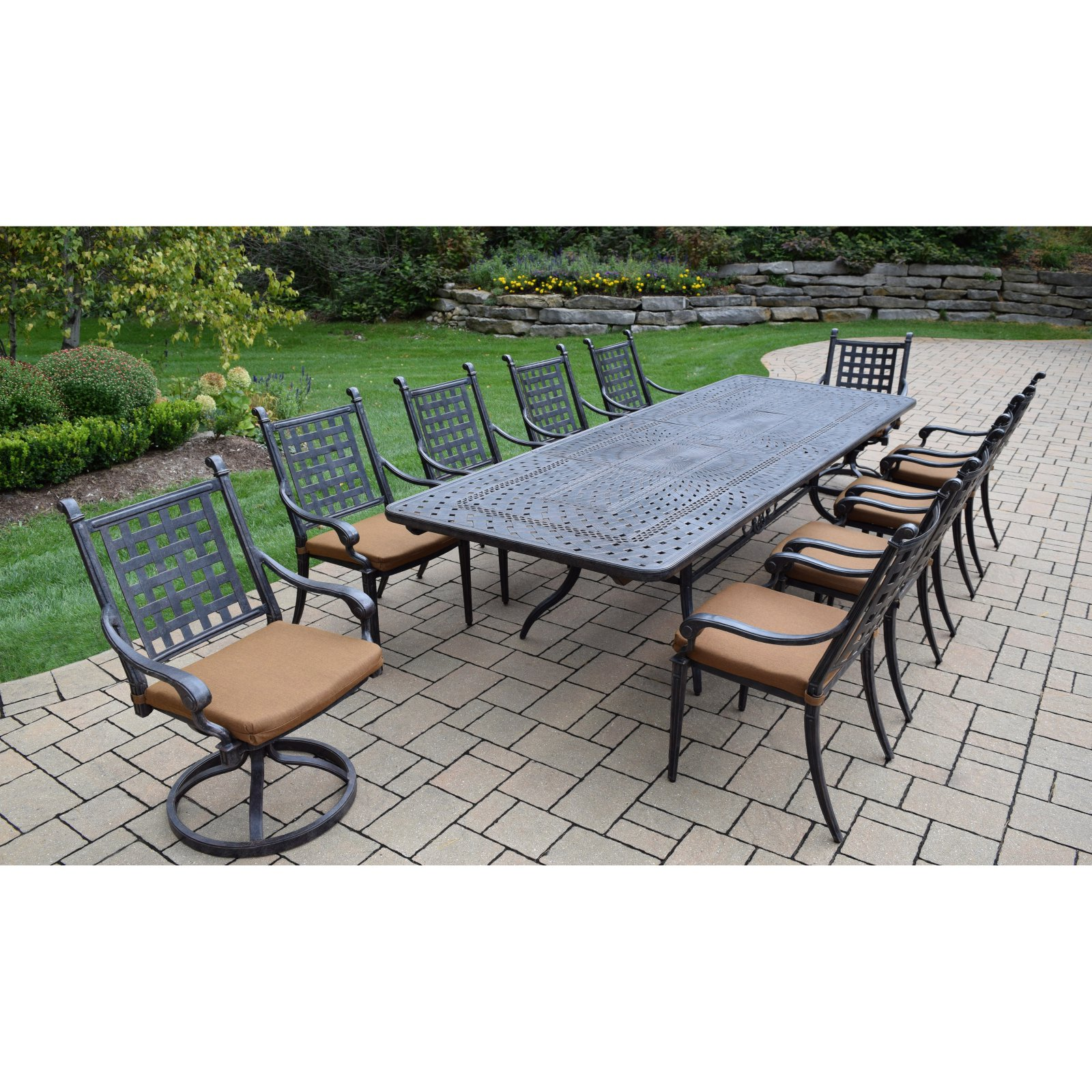 Oakland Living Belmont 11 Piece Extendable Patio Dining Room Set by Oakland Living