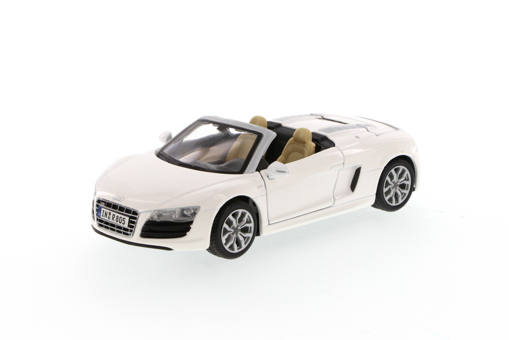 Audi R8 Spyder Convertible, White Maisto 31204 1 24 Scale Diecast Model Toy Car by Maisto