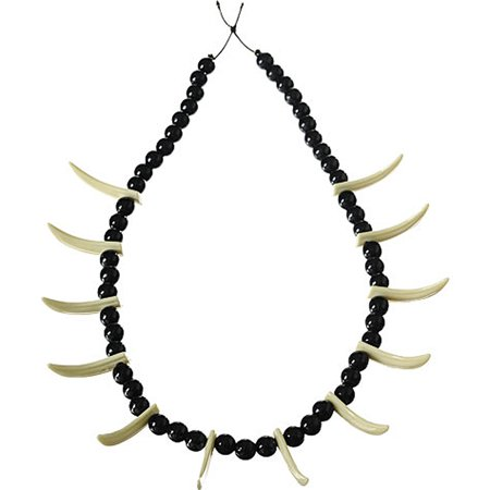 Stone Age Teeth Necklace Costume Accessory (Jaws Teeth Costume)