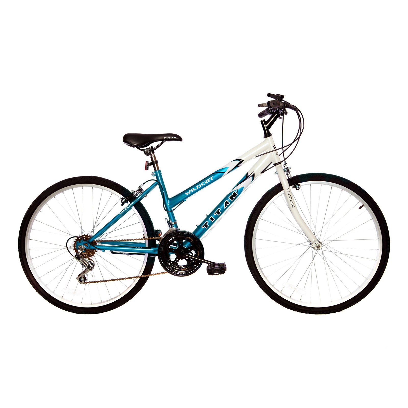 Titan Wildcat 12-Speed Women's Mountain Bike, Blue & White
