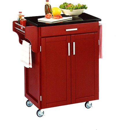 Home Styles Cuisine Kitchen Cart Red Wi