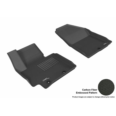 3D Maxpider 2014 2017 Kia Soul Front Row All Weather Floor Liners In Black With Carbon Fiber Look