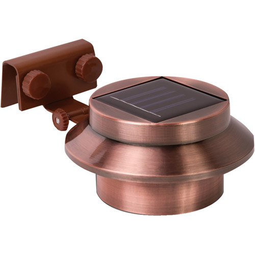 Rethink 2-Pack Multipurpose Gutter Fence Solar Light, Copper by RETHINK