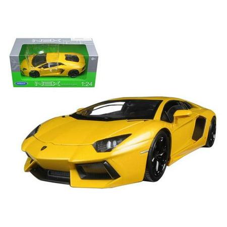 Welly 24033y Lamborghini Aventador Lp700 4 Yellow 1 24 Diecast Model