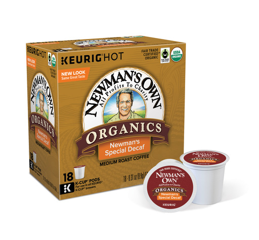 Newmans Own Organics Special Blend Decaf Keurig Single-Serve K-Cup Pods, Medium Roast