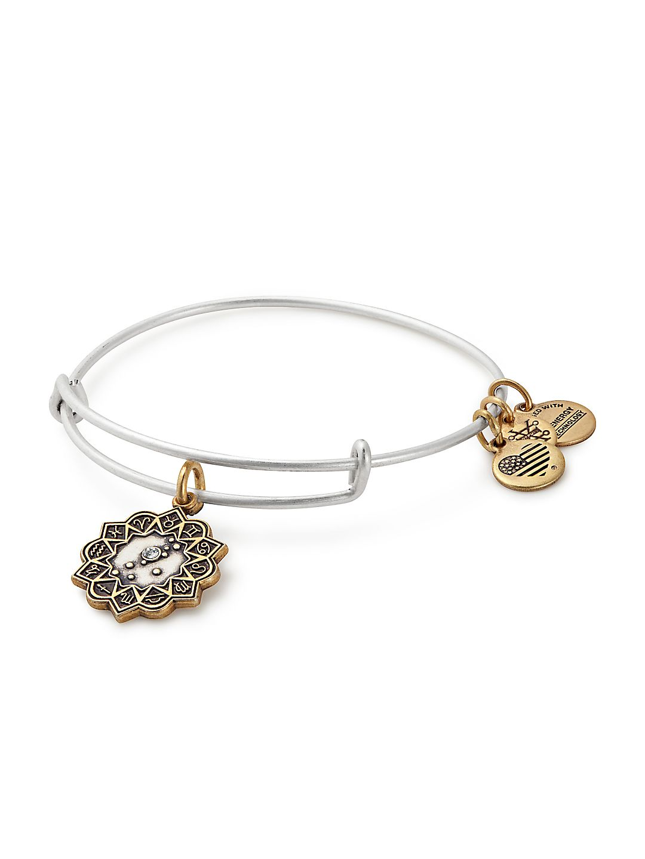 Zodiac Crystal Charm Bangle Bracelet