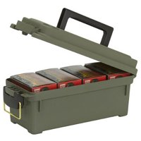 """Plano 121202 Shell Box 4 Boxes Ammo Box 13.62"""" x 5.6"""" x 5.6"""" Plastic Olive Drab"""