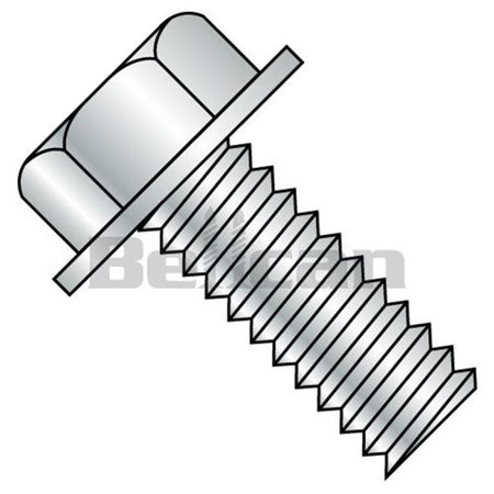 No.10-24 x 0.75 Unslotted Indented Hex Washer Head Fully Threaded Machine Screw - Zinc - Box of 5000 - image 1 of 1