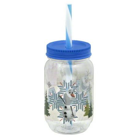 Disney Frozen Olaf Mason Jar Tumbler](Disney Gif Tumblr)