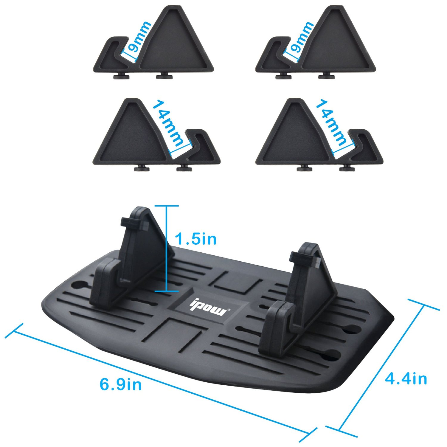 IPOW Phone Holder Silicone Pad Stand Dash Mat Car Mount Universal