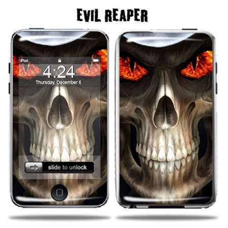 (Mightyskins Protective Vinyl Skin Decal Cover for Apple iPod Touch 2G 3G 2nd 3rd Generation 8GB 16GB 32GB mp3 player wrap sticker skins  - Evil Reaper)
